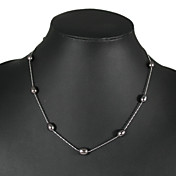 elegante zwarte parel ketting