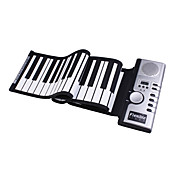 61 tasti di pianoforte tastiera digitale roll-up morbido con midi