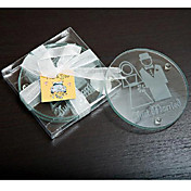 Bride and Groom Glass Coaster Set (set of 2)