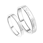 925 Sterling Silver His &amp; Hers Rings (Set of 2)