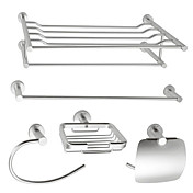 Aluminum 5-piece Bathroom Accessory Set (1041-LES-6500+6501+6507+6508+6509)