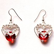 Beautiful Rhinestone/Gemstone With Rhodium Plated Earrings