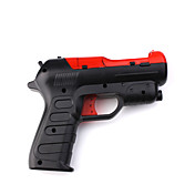 Light Gun Pistol Adapter for PS3 Move (Black/Red)