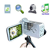 "HD 720p @ 30fps 5MP CMOS 8xdigital zoom videocamera digitale con LCD da 3,0 ""schermo mp3 funzione videocamera per PC (HD-668)"