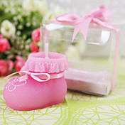Baby Bootie Candle in Pink(set of 4)
