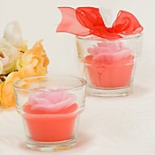 Rose Scented Glass Candle Jar