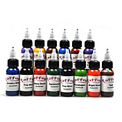 14 de alta calidad de la tinta del tatuaje conjunto de colores 14 * 30 ml
