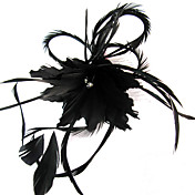 fascinator speciale con piuma weddding / festa fiore copricapo / luna di miele