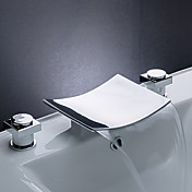 messing foss bathroom sink kranen med rustfritt stl tut (utbredt)
