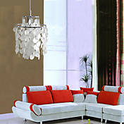 Modern Chandelier with 6 Lights in White