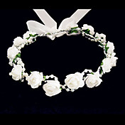 Lovely Foam/ Paper Flower Wedding Flower Girl Wreath/ Headpiece
