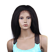 "Full Lace Kinky Straight 12"" Indian Remy Hair - 26 Colors To Choose"