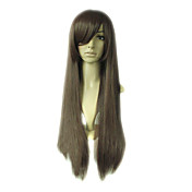 Capless Long Top Grade Quality Synthetic Dark Brown Costume Party Wig