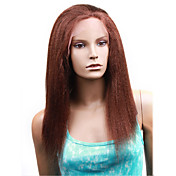 Lace Front With Adjustable Strap At Back Kinky Straight 16&quot; Indian Remy Lace Wig 26 Colors To Choos