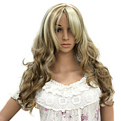 Capless Long Heat-resistant Fashion Mixed Color Costume Party Wig