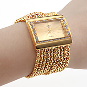 Dame Diamant Armbnds Stil Armbndsur (Guld)