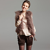 Sleeveless Fox and Rabbit Fur Vest (More Colors)