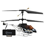 3 Channel helicopter with Gyro i-helicopter i322 Controlled by iPhone/iPad/iPod iTouch (Black White)