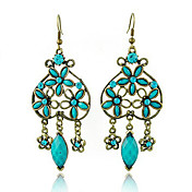 Antique Bronze-plated Turquoise Style Earring