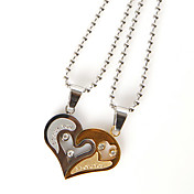 """Je t'aime"" collier (lot de 2)"