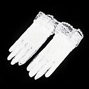 Lace Fingertips Wrist Length Flower Girl Gloves