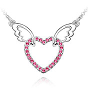 Crystal Angel Heart Necklace