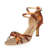 Satin Upper High Heel Latin Dance Shoes Ballroom Latin Shoes for Women More Colors