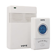 White Remote Control Wireless Doorbell with LED 38 Melodies