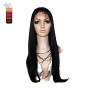 Full Lace Extra Long Yaki Straight 100% India Reme Hair Wig Multiple Colors To Choose