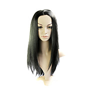 Lace Front Long Mixed Hair Black Straight Hair Wig