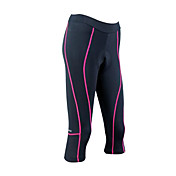 santic - womens Coolmax materiale sykle 3/4 shorts rosa spor
