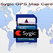 Original Brand Sygic GPS Map Card, With 4GB Standard SD Card