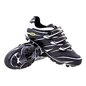 Cycling MTB SPD Shoes With Fiberglass Sole And PVC Leather Upper