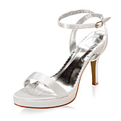 Satin Upper Stiletto Heel Sandals Wedding Bridal Shoes(More Colors)