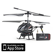 ICAM Helikopter mit 0,3-Megapixel-Kamera fr iPhone, iPad und Android (schwarz)