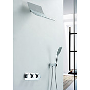 Contemporary Shower Faucet with Rain Shower Head + Hand Shower