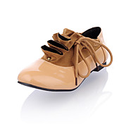 Leatherette Closed Toe Lace-up Flats With Ruffle (More Colors)