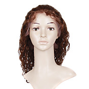Lace Front With Adjustable Strap At Back Fashion Curly 12 inch Indian Remy Lace Wig 26 Colors Available