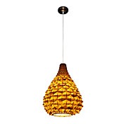 Artistic Pendant Light with 1 Light in Golden