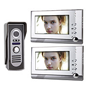 7 Inch Color TFT LCD Video Door Phone  System (1 Camera with 2 Monitor)