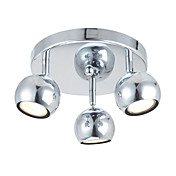 Semi Flush Mount with 3 Lights in Round - Downward