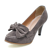 Suede Stiletto Pumps With Bows For Party/Evening (More Colors)