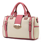 Fashion Lady's PU Beige Tote Bag With Belts And Handles In Different Colors