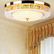 Luxuriant Crystal Flush Mount with 3 Lights in Golden