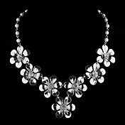Seven Flower Ladies' Rhinestone Necklace (44 cm)