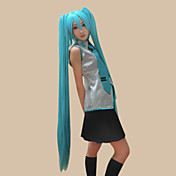 peruca cosplay inspirado vocaloid Hatsune Miku