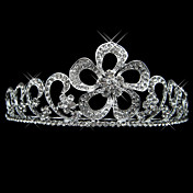 Alloy With Rhinestone And Pearl Flower Design Bridal Tiara