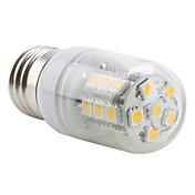 E27 27x5050 SMD 3.5W 300LM 2800-3200K Warm White Light LED Corn Bulb (230V)