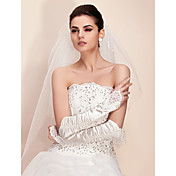 Lycra Fingerless Opera Length Bridal Gloves