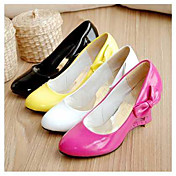 PU Leather 6cm Wedge Princess Lolita Shoes with Heart Hollow